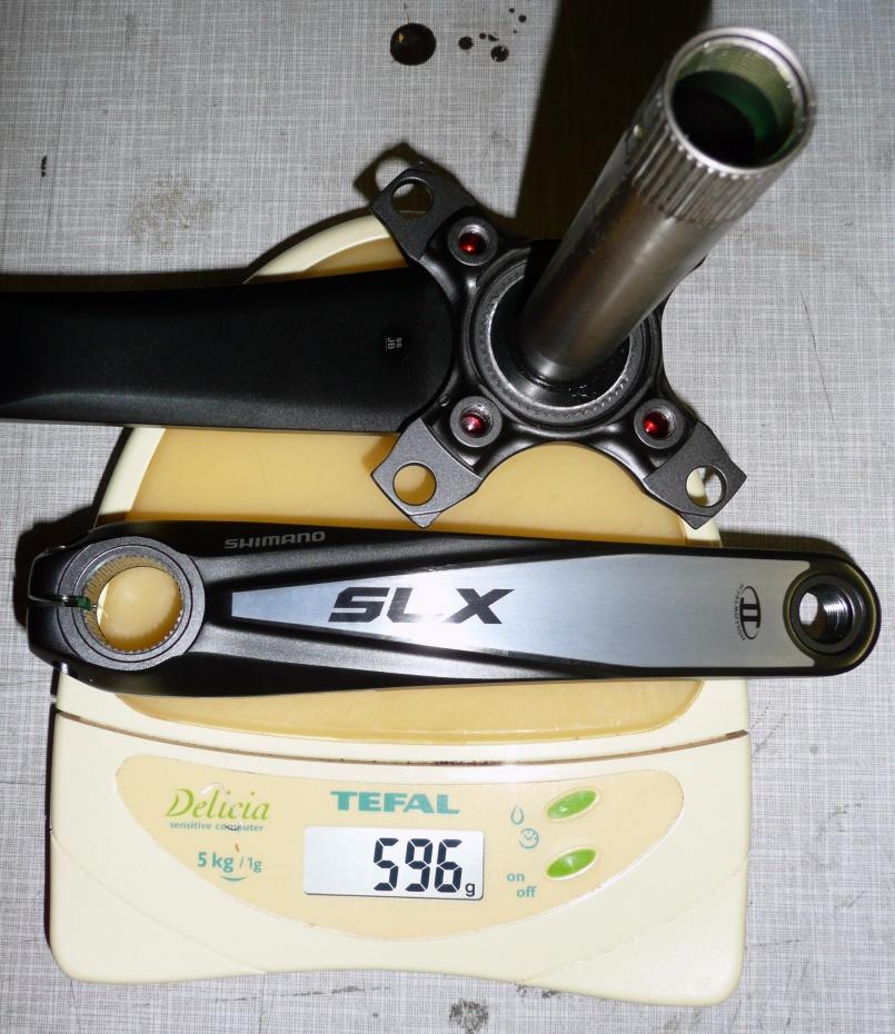 Gewicht Shimano Kurbel XT FC-M760 175mm, 68/73mm, HTII