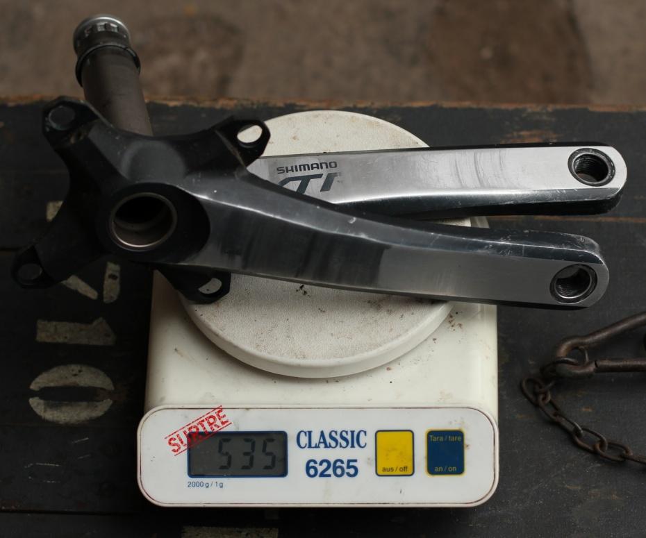 Gewicht Shimano Kurbel XTR FC-M970 175mm, 68/73mm, HTII