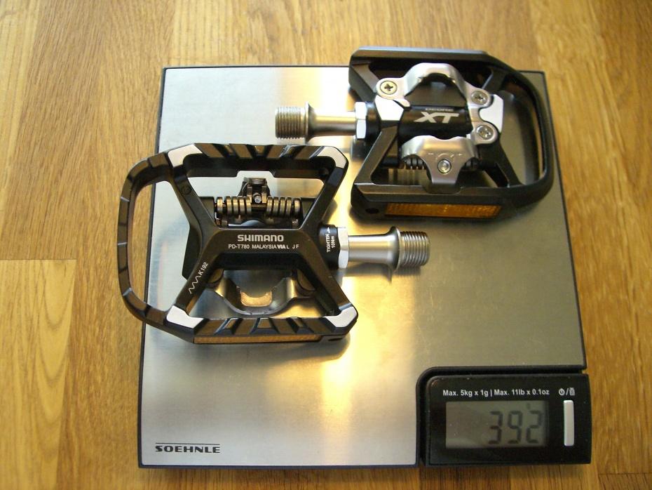Shimano xt pedale gewicht